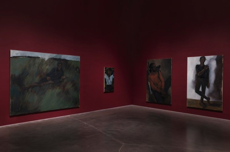 Installation view: 'Lynette Yiadom-Boakye: Under-Song For A Cipher,' 2017. New Museum, New York. Photo: Maris Hutchinson / EPW Studio
