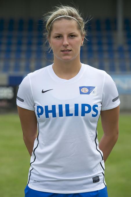 Marlou Peeters in 2012 als speler bij PSV. Foto: VI Images / HH