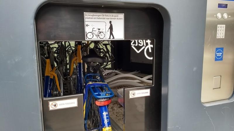 De automatische ov-fietsenstalling op station Bunnik.