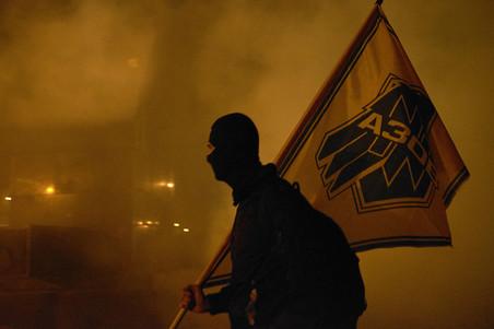 Lid van het Azovbataljon, 20 december 2015. Foto: Pierre Crom / Getty