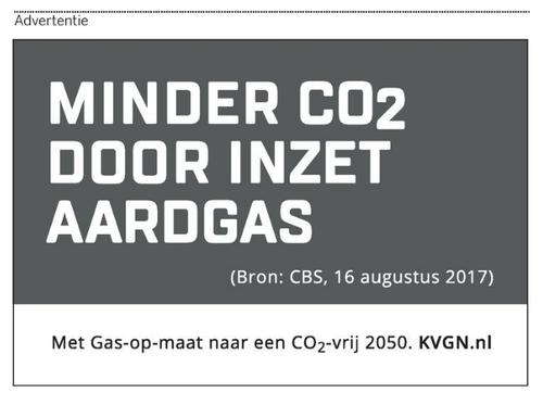 Advertentie op de voorpagina van de Volkskrant (17 augustus 2017)