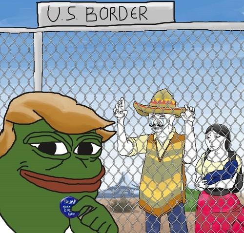 Het Pepe the Frog-personage wordt gebruikt om Donald Trump af te beelden, omdat Pepe the Frog de loser illustreert die heel goed weet dat hij een loser is, maar die tegelijkertijd weet dat hij altijd een loser zal zijn en daarom lak heeft aan wat anderen van hem vinden.Illustratie: Maldraw / 4chan