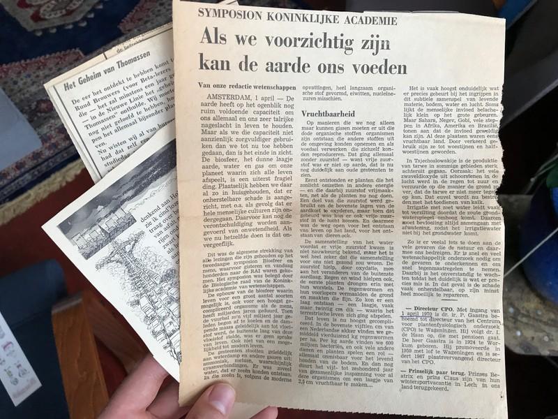 'Als we voorzichtig zijn kan de aarde ons voeden,' schreef NRC in april 1970.