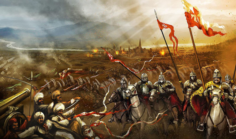 Ridders verslaan de Ottomanen bij Wenen.