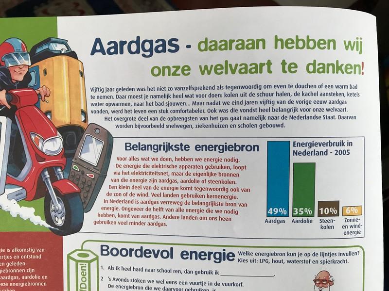 De boodschap: aardgas is vooruitgang, aardgas is welvaart.