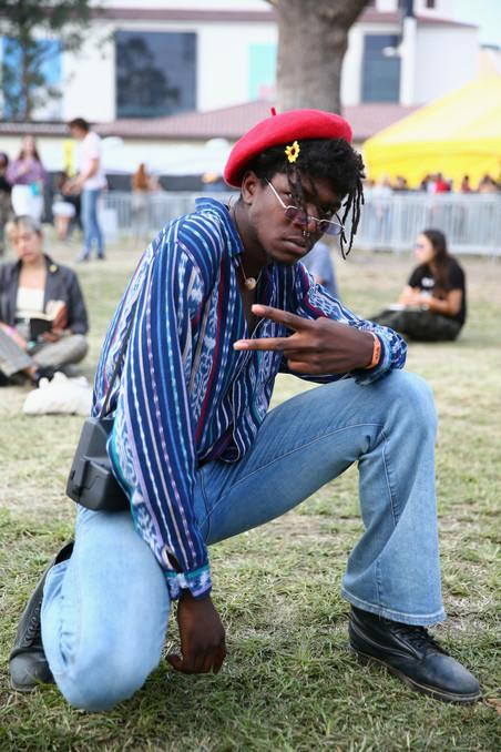 Festivalganger tijdens Camp Flog Gnaw 2017. Foto: Rich Fury / Getty Images