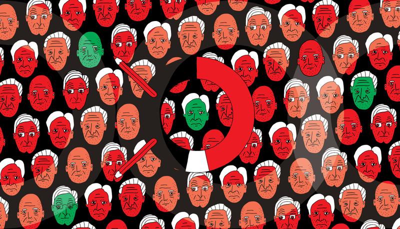 Illustratie Jip Piet voor De Correspondent