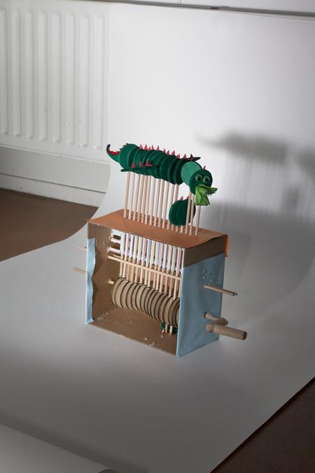 'Automaton', gemaakt door Thijs, Joris en Quinten (14). Foto: Majda Vidakovic (voor De Correspondent)