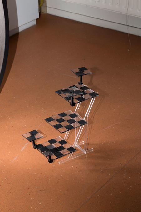 '3D schaakbord', gemaakt door Jesse (17). Foto: Majda Vidakovic (voor De Correspondent)