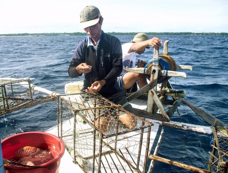 Nautilusvangst in de Filipijnen.