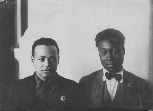 Otto Huiswoud en Claude McKay. Foto: Yale University