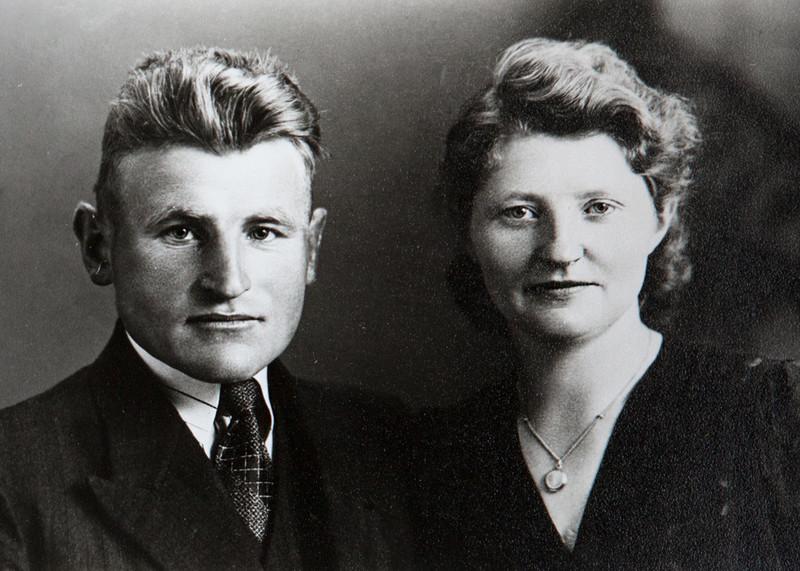 Mijn grootouders, Grietje en Thie.