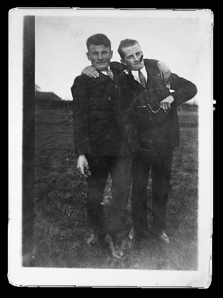 Mijn opa Thie (links) met zijn broer Albert.