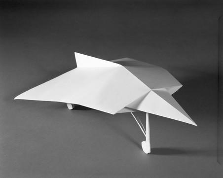 FB-22 (boven) en I-Ae-37 (onder), uit de serie Paper Planes van Sjoerd Knibbeler