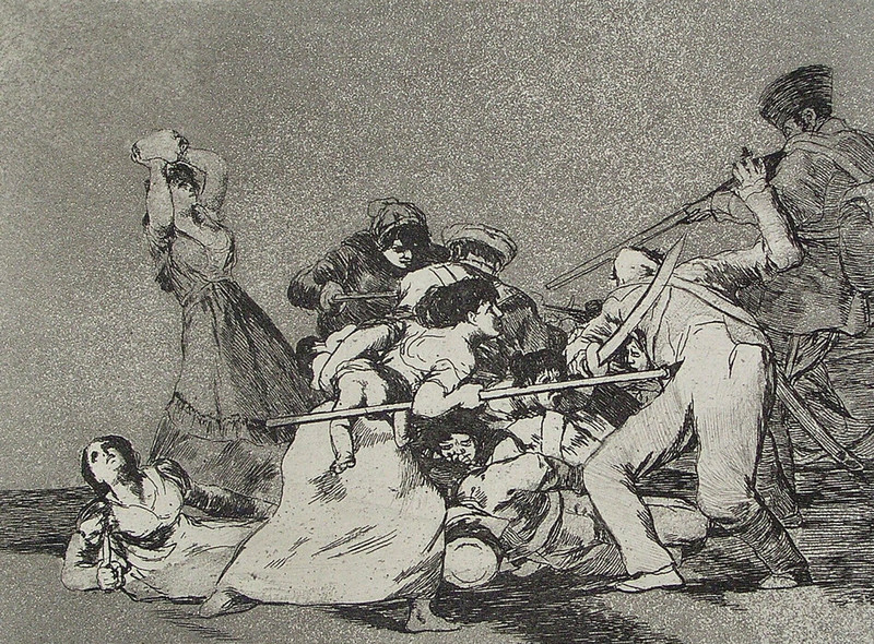 Y son fieras (En het zijn wilde beesten), Francisco Goya, circa 1810-1814