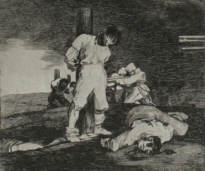 Y no hai remedio (En er valt niks tegen te doen), Francisco Goya, circa 1810-1814