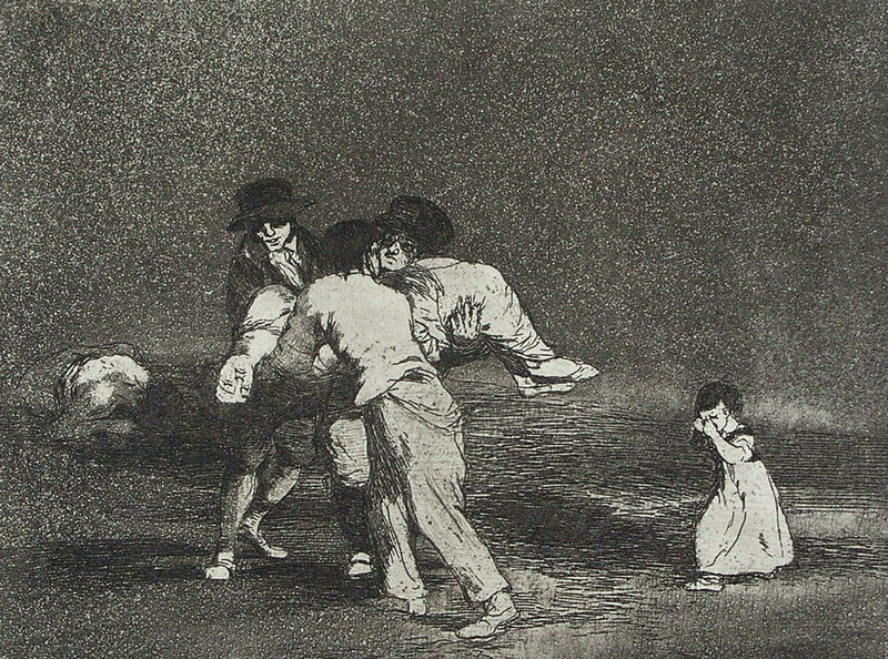 Madre infeliz! (Ongelukkige moeder!), Francisco Goya, circa 1811-1812