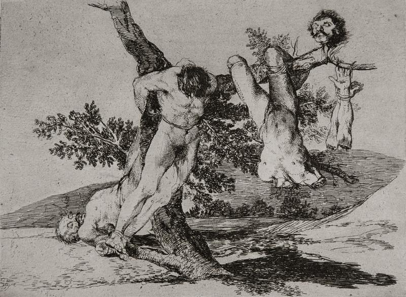 Grande Hazaña! Con Muertos! (Wat een moed! Met doden!), Francisco Goya, circa 1810-1813