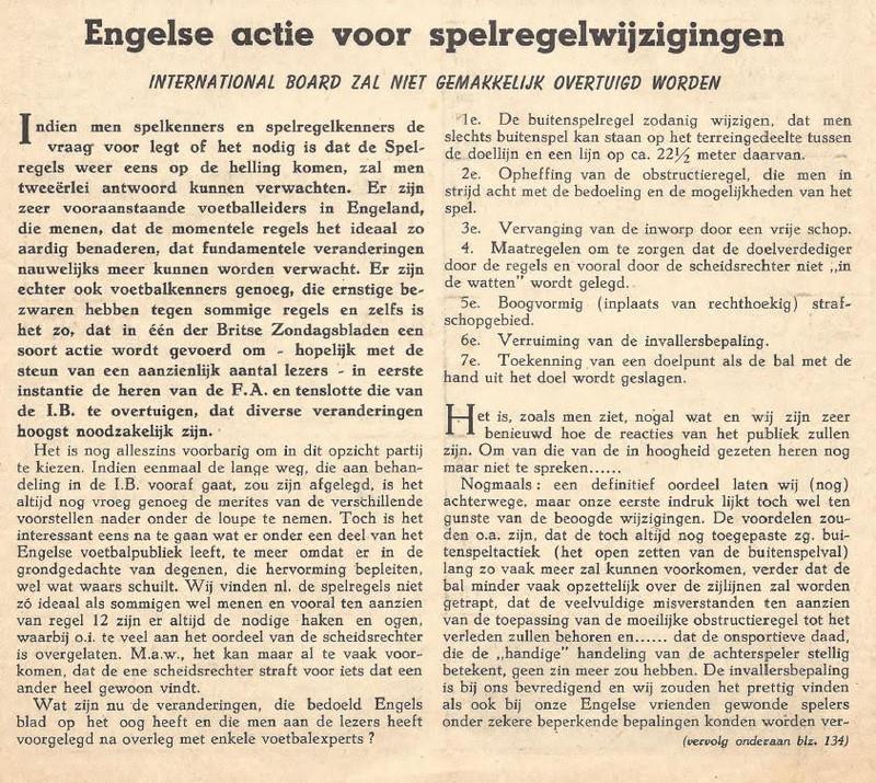 Ir. Ad van Emmenes, vader van Viola Holt, over spelregelwijzigingen in de jaren vijftig