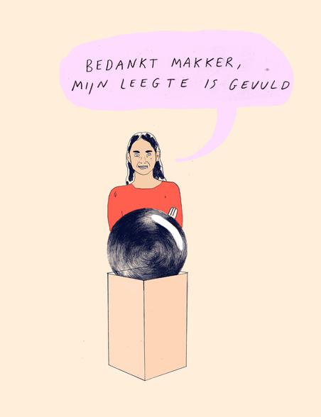 Illustratie: Nastia Cistakova (voor De Correspondent)