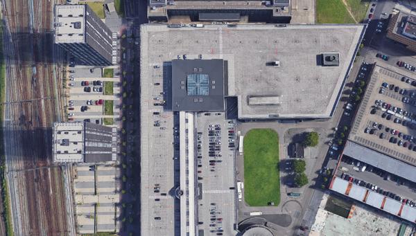 Satellietbeeld van de torens in Den Haag
