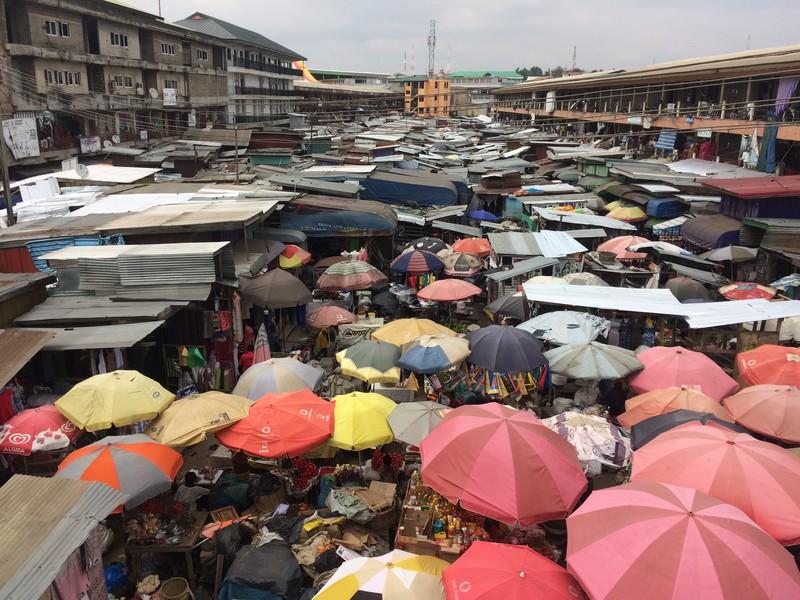 Een stukje van de grootste markt van Afrika.