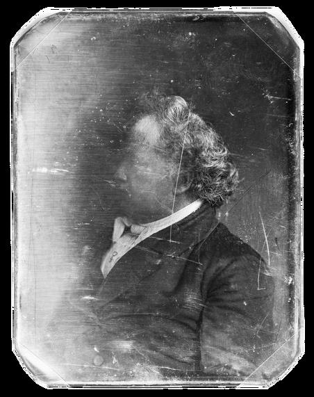 Beschadigde daguerreotypie, de naam van de allereerste foto's zoals die in de19de eeuw werden gemaakt. Meer dan één afdruk maken per foto was niet mogelijk. Bron: Library of Congress