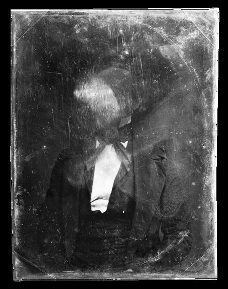 Beschadigde daguerreotypie uit de 19de eeuw, een van de eerste foto's. Meer dan één afdruk maken per foto was bij dit procedé niet mogelijk. Bron: Library of Congress