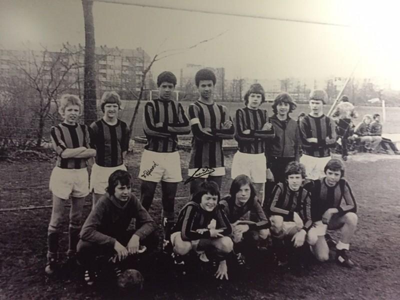 Frank Rijkaard en Ruud Gullit in de C1 van DWS. (Bron: Koninklijke HFC)
