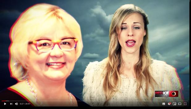 Lana Lokteff (rechts) van het wit-nationalistische kanaal Red Ice TV