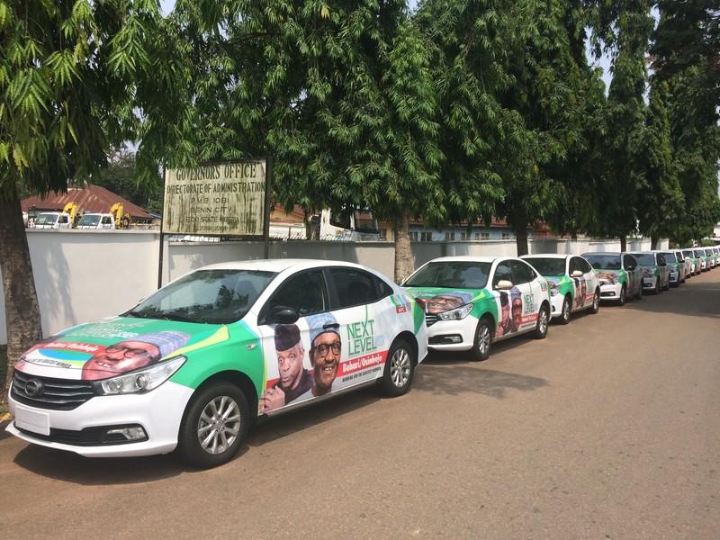 APC campagne-auto's in Edo State.