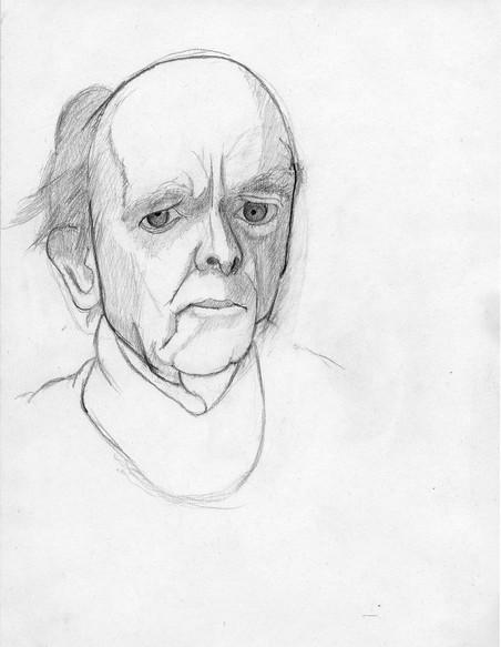 Zelfportretten van William Utermohlen uit 1996.