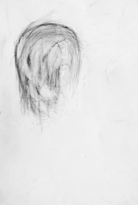 Zelfportretten van William Utermohlen, respectievelijk uit 1999 en 2000.