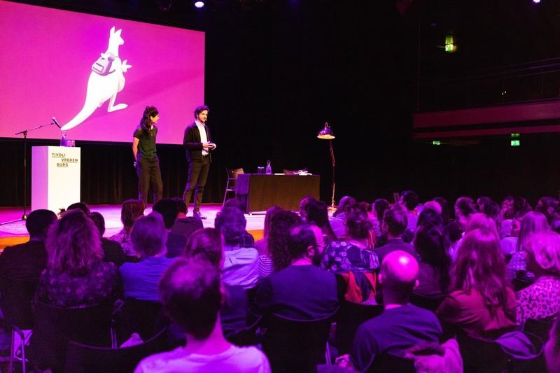 In actie in Tivoli. Foto: Catharina Gerritsen.